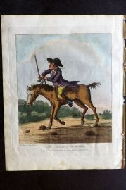 Henry Bunbury 1812 HCol Horse Satire Print. The Tumbler or its Affinities